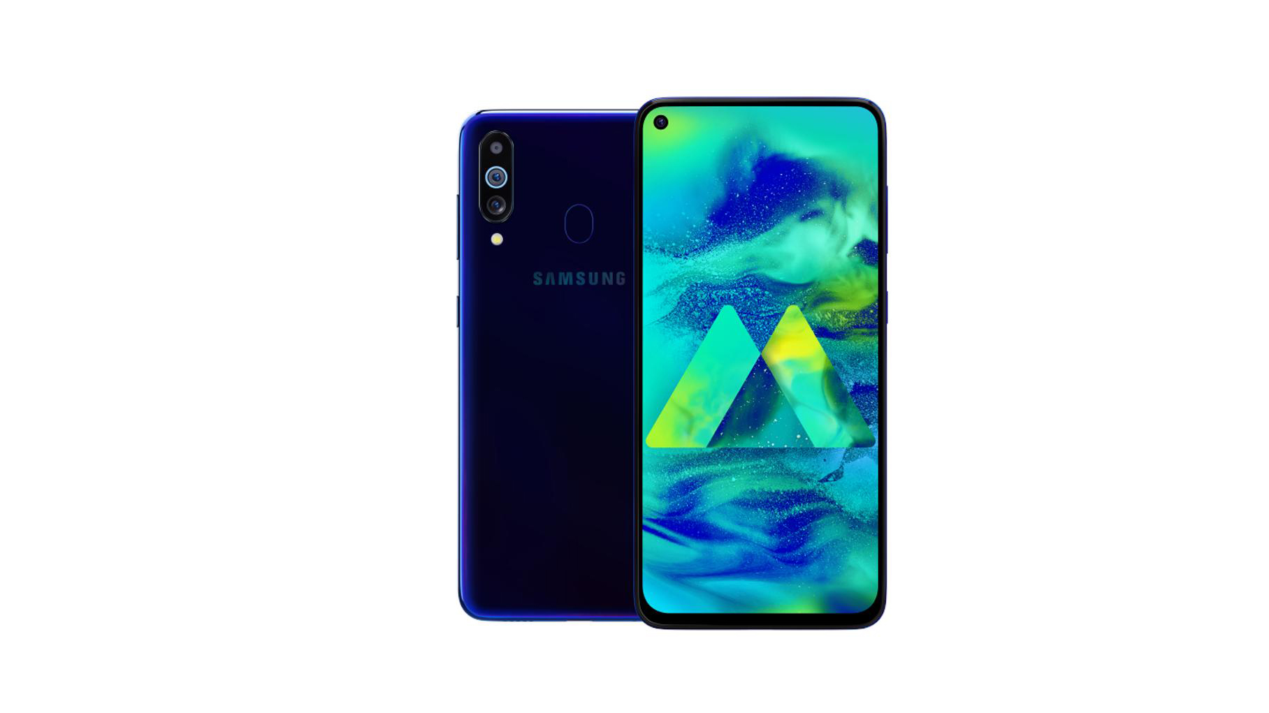 Sforum - The latest technology information page of anh-render-Galaxy-M40-1 Photos of Samsung Galaxy M40 renderings, confirmation of punched screen, 3 rear cameras