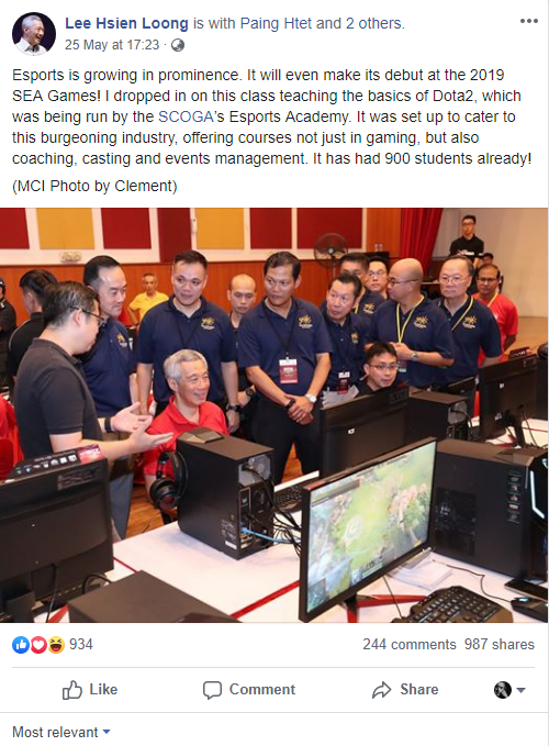 Singapore Prime Minister Lee Hsien Loong beat Dota 2, expressing his support for the domestic water industry - Photo 1.