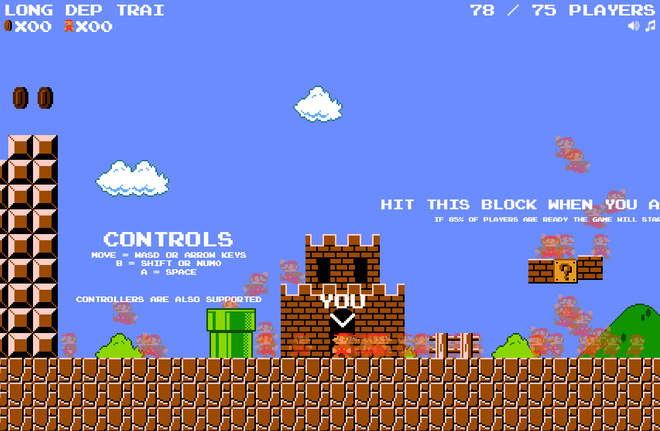 Super Mario has just been made into a royale battle game: 75 people play to see who broke the first island - Photo 1.