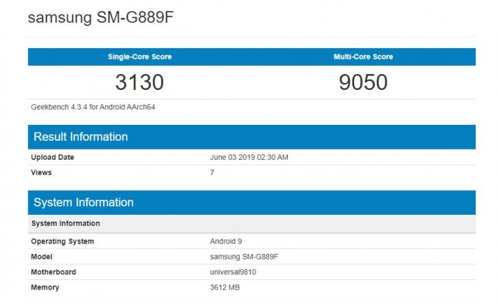 Sforum - Latest technology information page galaxy-a8s-2 Samsung's new smartphone appeared on Geekbench, possibly a Galaxy S Active version