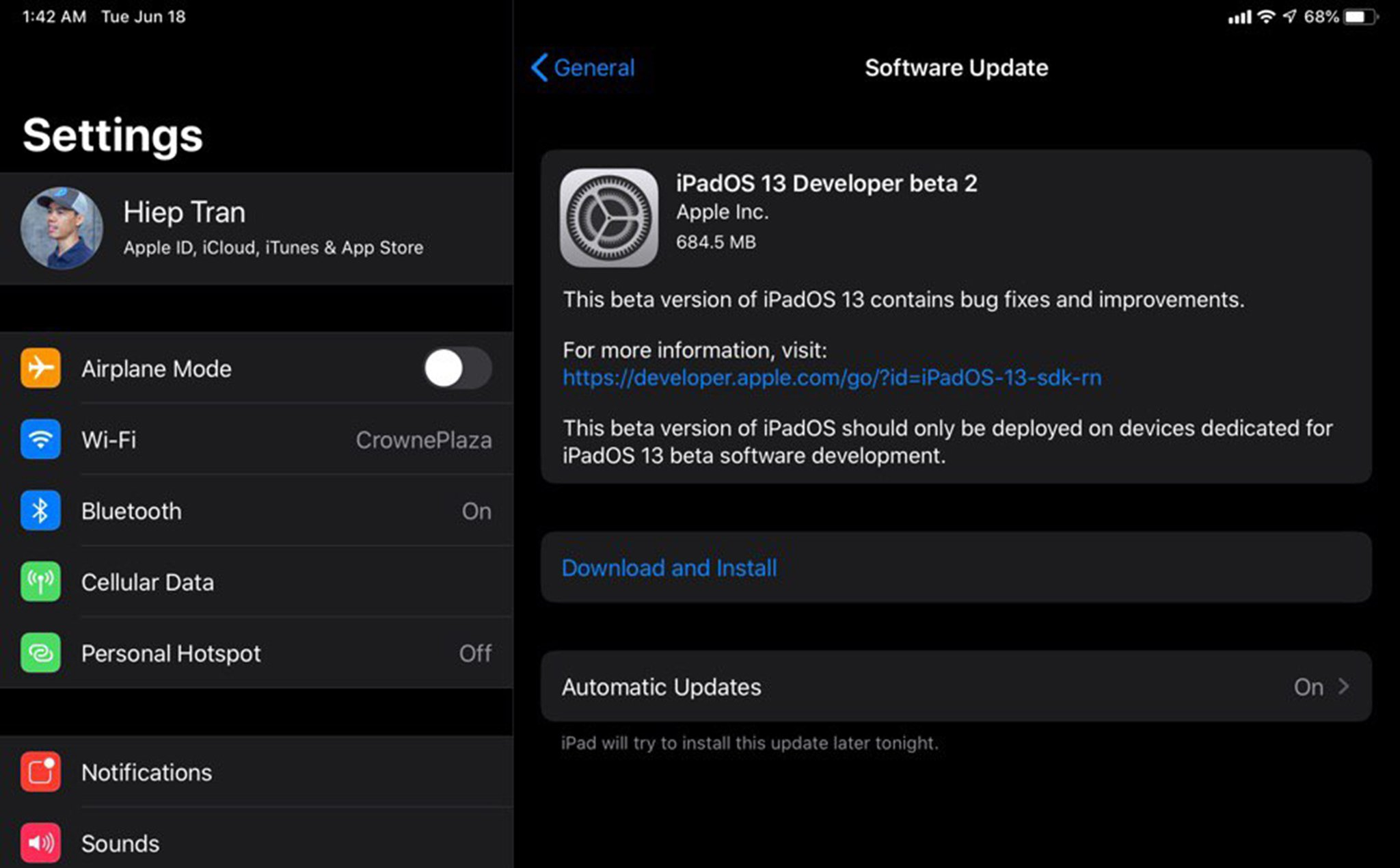 Already have iOS 13 beta 2, come on brother!