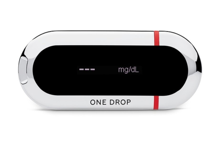 The One Drop glucometer syncs to Apple