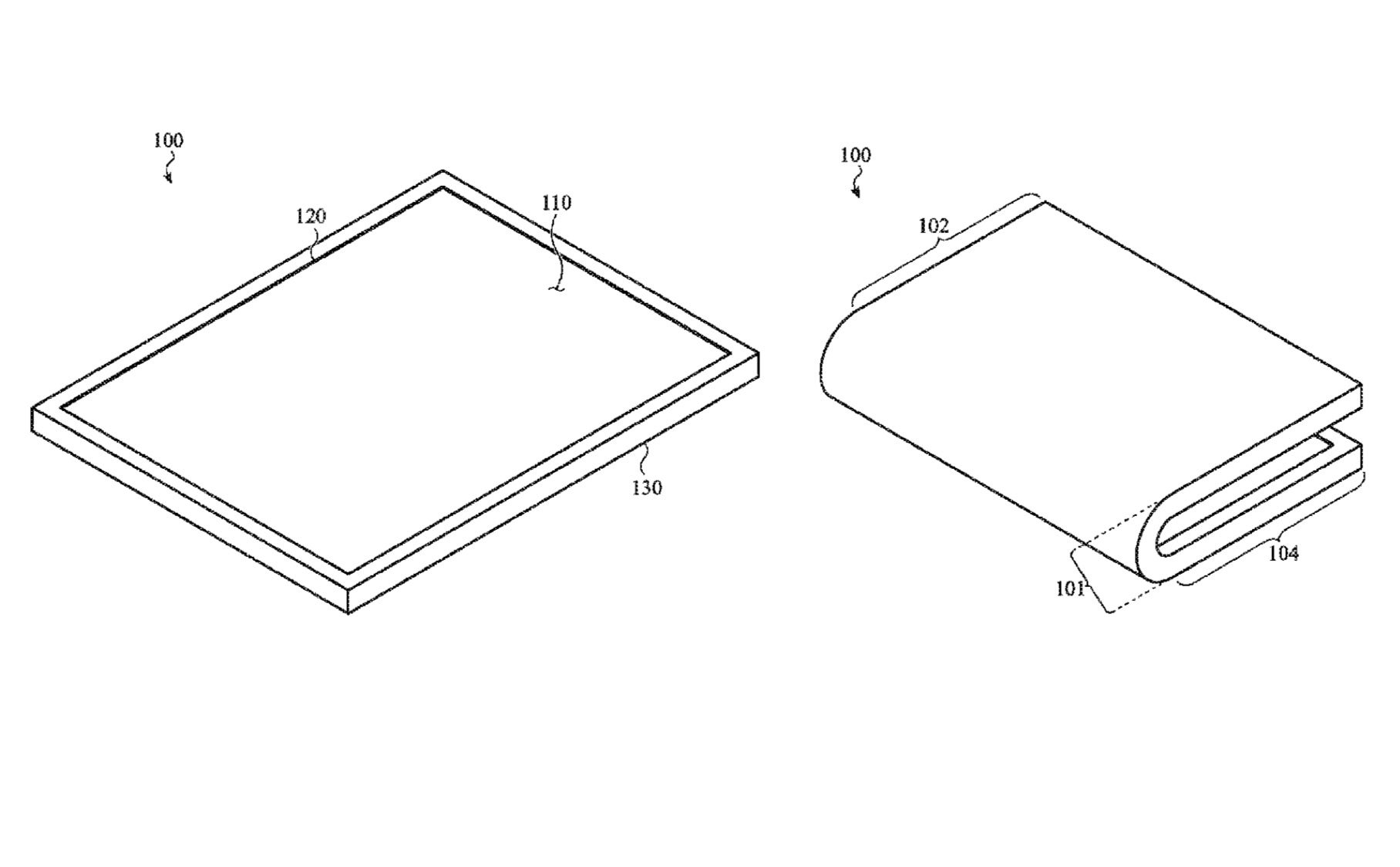 Apple received a patent for the foldable screen