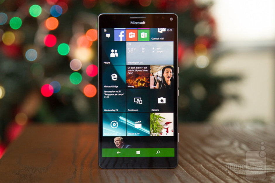 The Microsoft Lumia 950XL, powered by Windows Phone