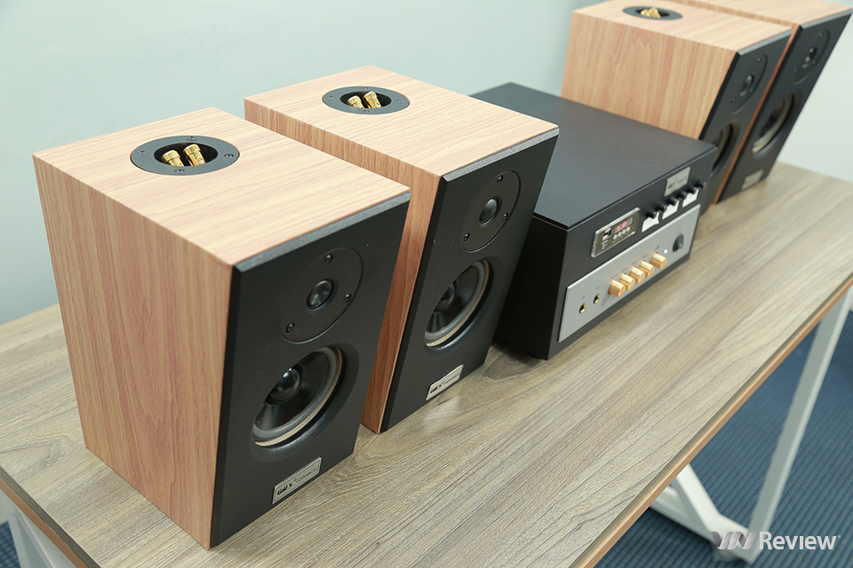 "Evaluate the GoldSound Gold4cafe V51 - VnReview ""tea room speakers"""
