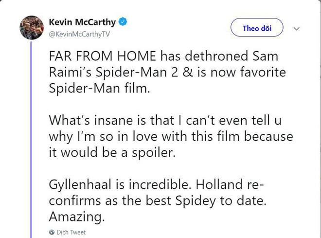 The first comments about Far From Home: Excellent than Spider-Man 2 years ago! - Photo 1.