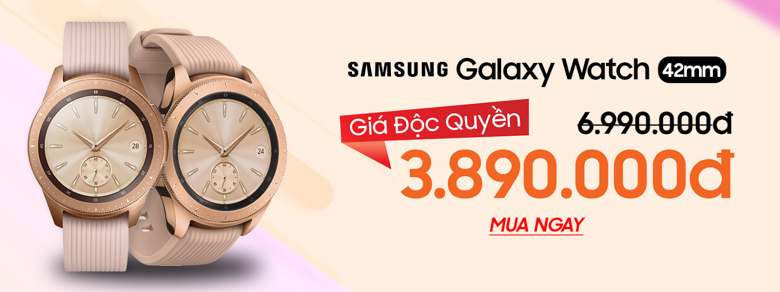 """Sforum - Latest technology information page samsung-galaxy-watch-42mm-rose-gold-1 [HOT SALE] Galaxy Watch 42mm Rose Gold discounted """"shockingly"""", only 3.89 million at CellphoneS!"""
