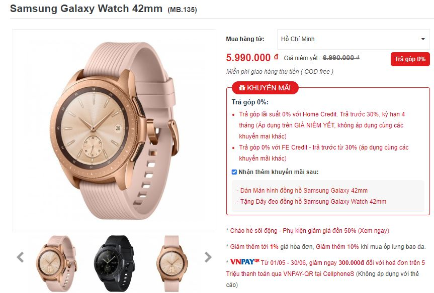 Sforum - Latest technology information page galaxy-watch-2 [HOT SALE] Galaxy Watch is fashionable and elegant with shock discount at CellphoneS