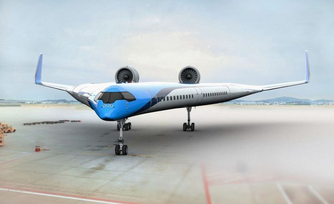 In the future, passengers can sit with these unique V-shaped planes - Photo 1.