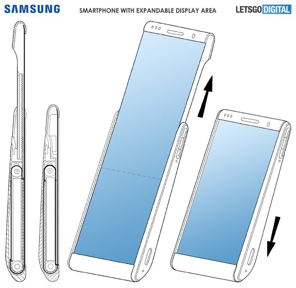Sforum - Latest rollable technology information page-display-samsung Leaking new patents on Samsung's screen-rolling smartphone