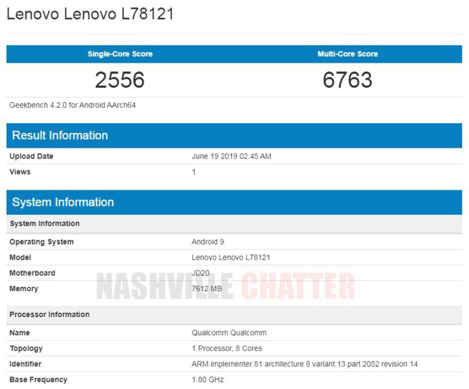 Sforum - Latest technology information page Lenovo-Z6-Geekbench-1 Lenovo Z6 is exposed on Geekbench: Snapdragon 730, RAM 8GB, fast charging 18W