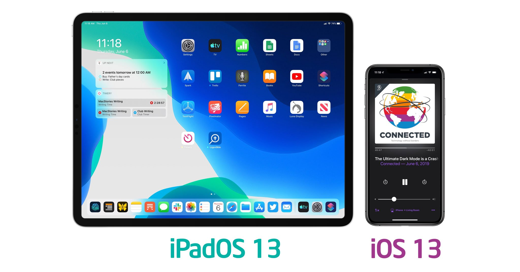 Link download IOS 13, iPadOS beta 2 or Profile beta 2. OTA, no need for a computer