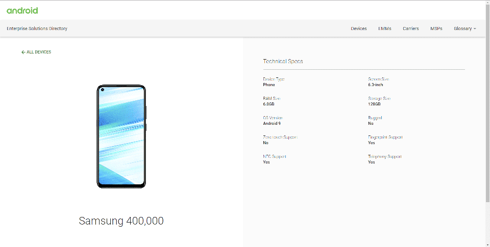 Sforum - Latest technology information page Samsung-Galaxy-M40-listed-on-Android-Enterprise More evidence that Samsung Galaxy M40 is ready to market