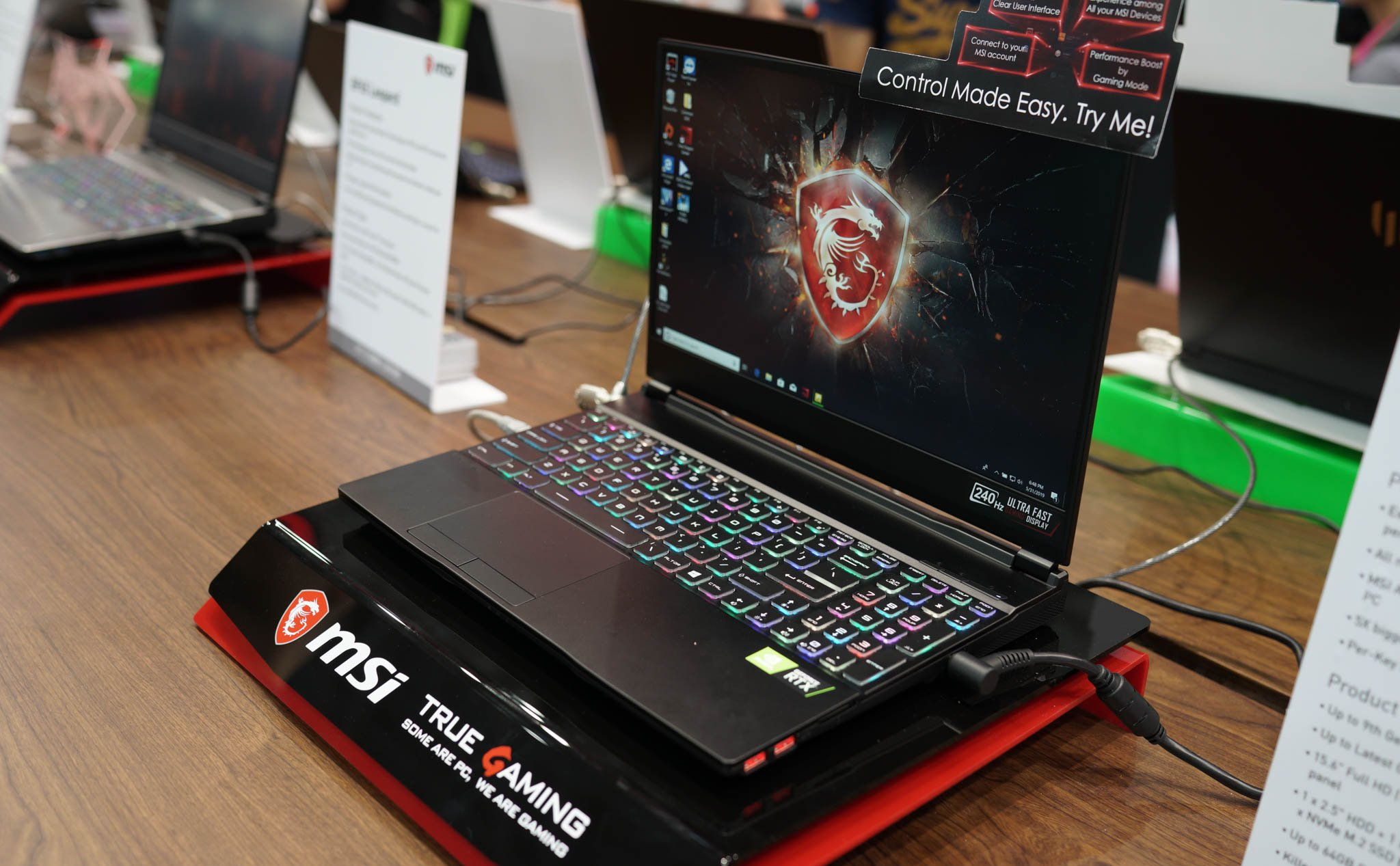 On MSI GE65 and the trend of integrated Core i9, 240 Hz screen in mid-range gaming laptop