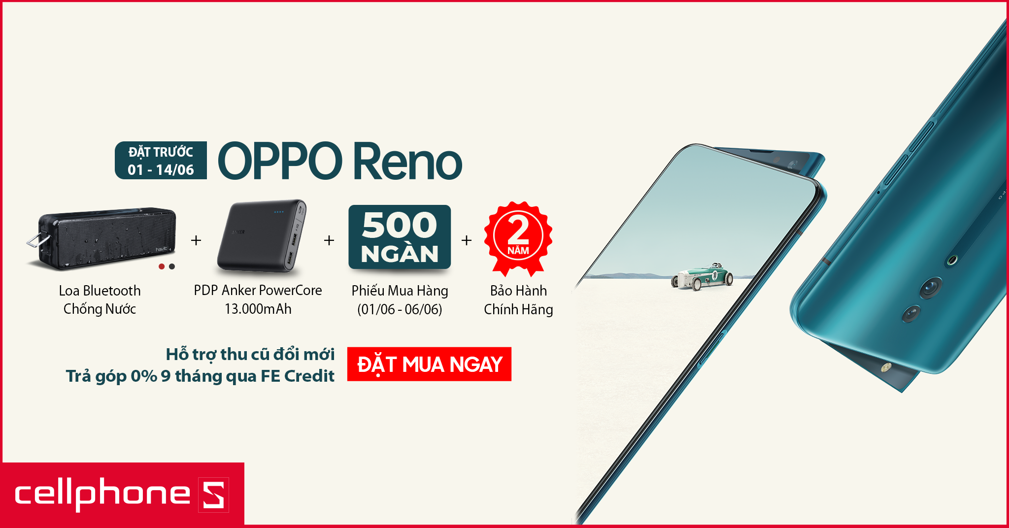 Sforum - Latest technology information oppo-reno-2048x1072 Advance OPPO Reno today, get 2-year warranty and gift worth millions of VND