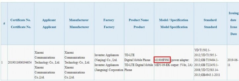 Sforum - Latest technology information page redmi-7-pro-dat-chung-nhan-3C-1 Revealing evidence that cheap smartphones Redmi 7 Pro is about to be released