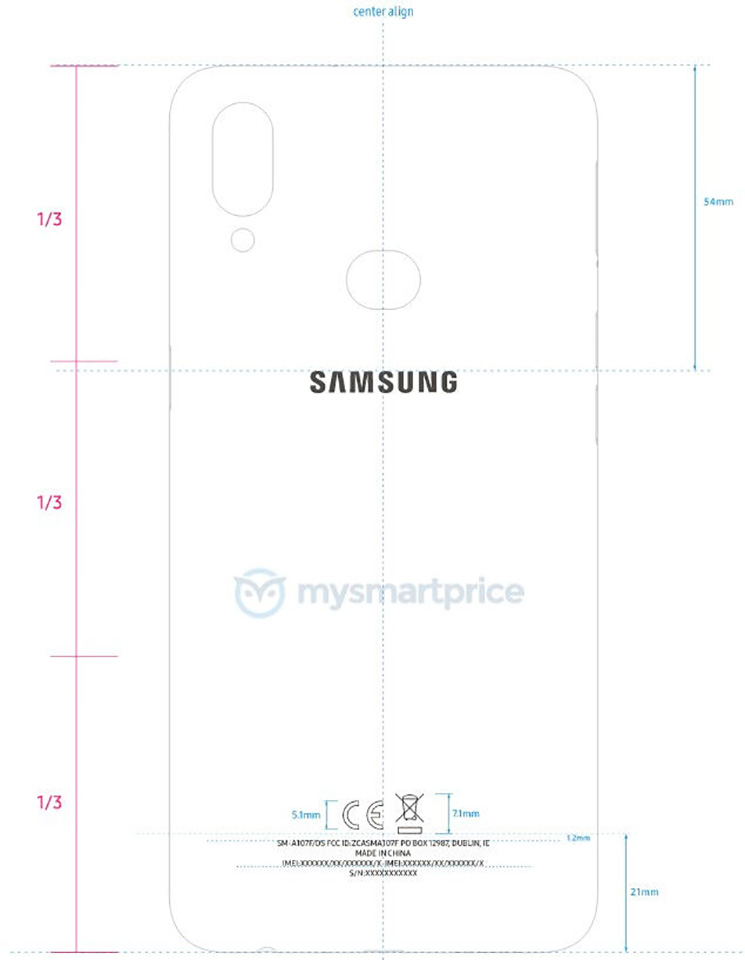 Sforum - Latest technology information page Samsung-Galaxy-A10s-FCC-01 Samsung Galaxy A10s attained high-level certification revealed a dual camera and fingerprint sensor on the back