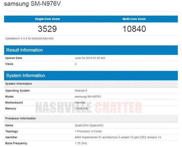 Samsung Galaxy Note 10 5G exposes impressive benchmark, equipped with 12GB of RAM - Photo 1.