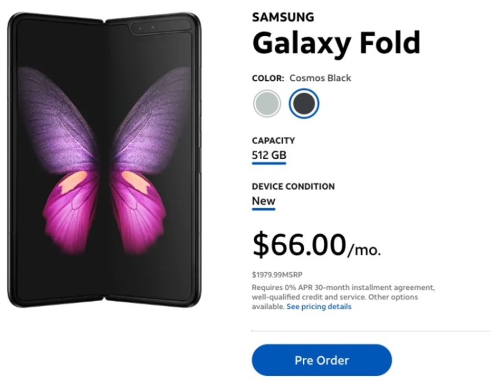 Sforum - Latest technology information page ATT-huy-dat-truoc-Galaxy-Fold-3 US network operator canceled all previous orders of Samsung Galaxy Fold smartphone screen