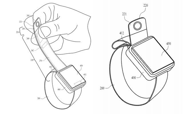 The future Apple Watch will be equipped with a camera placed at the end of the strap? - Photo 1.
