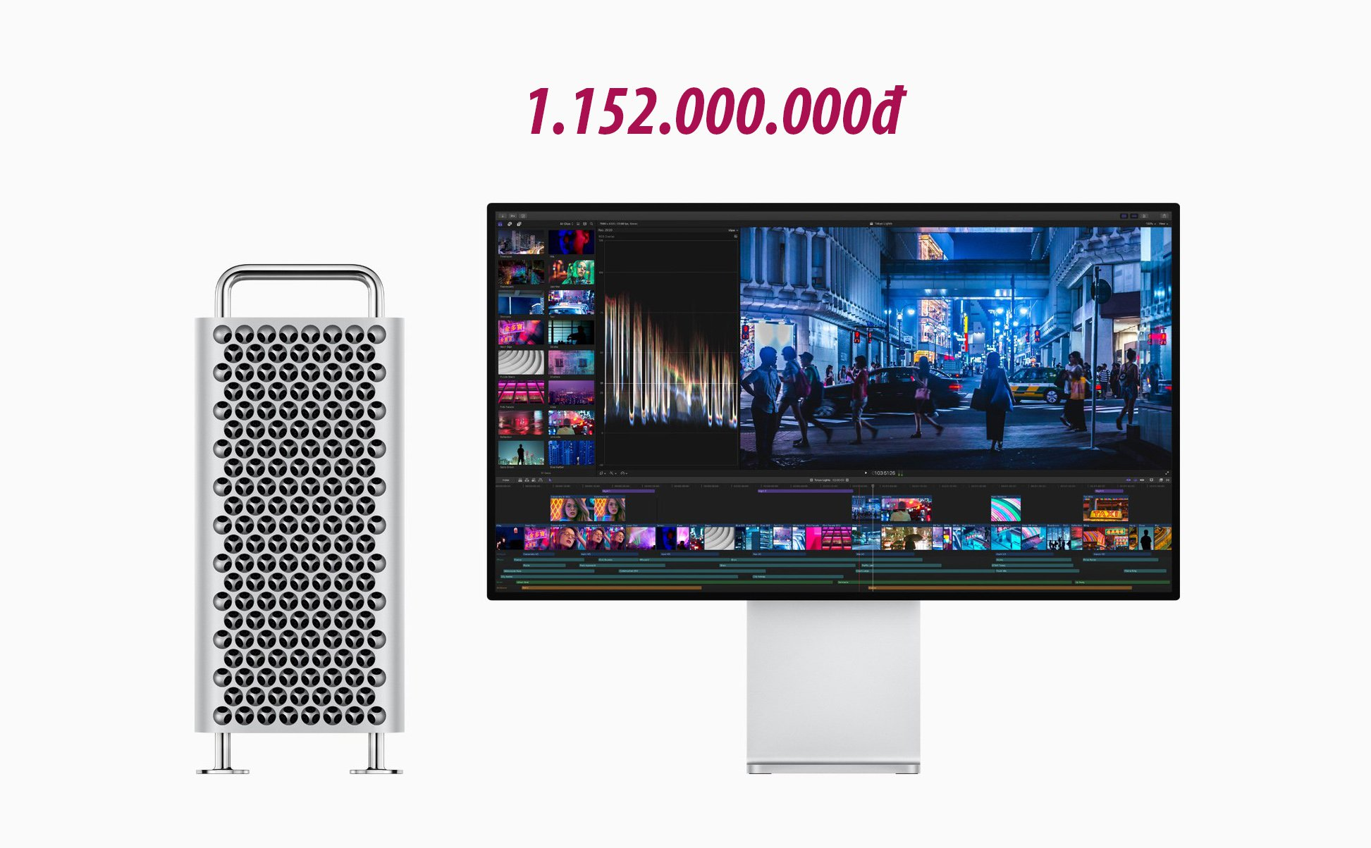 The highest configuration Mac Pro will cost more than 1.1 billion VND