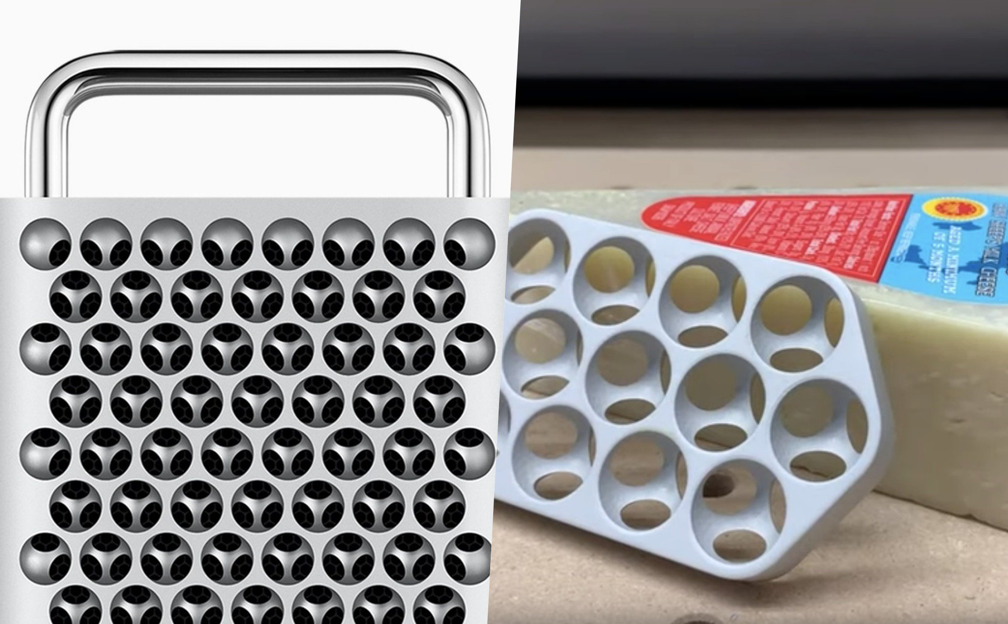 The new Mac Pro case is not ... good cheese as everyone thinks