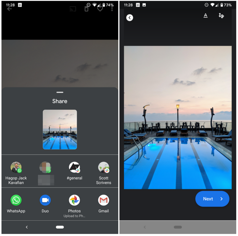 You can now use Duo to share photos, screenshots or images saved on your device