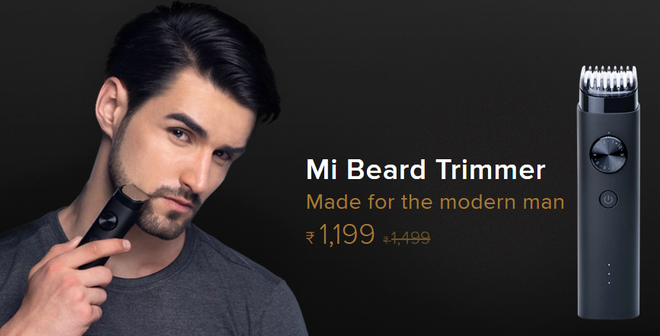 Xiaomi launches Mi Beard Trimmer shaver, uses 90 minutes each time charging and waterproofing IPX7, 395,000 VND - Photo 1.