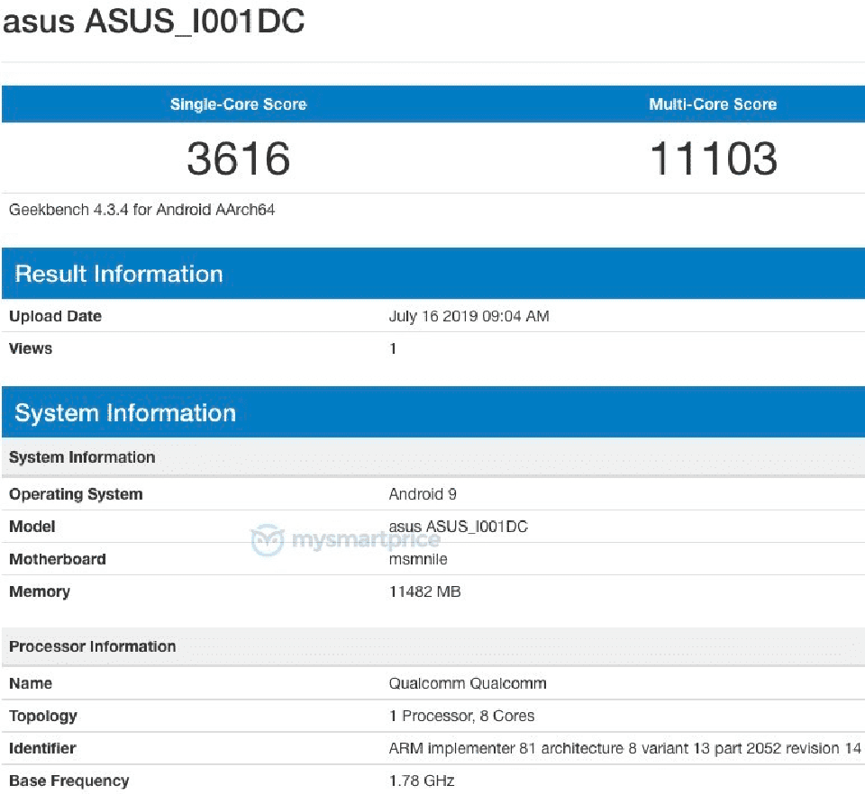 Sforum - Latest technology information page ASUS-ROG-Phone-2-1 ASUS ROG Phone 2 appears on Geekbench, confirms using Snapdragon 855+ chip, 12GB RAM