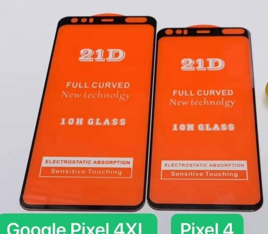Screen protectors for the Pixel 4 and Pixel 4 XL show a mysterious cutout on the top bezel - Accessory for Pixel 4 series hints at exciting new feature for Google