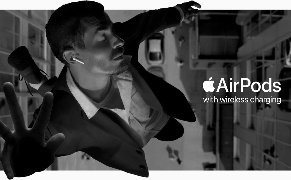 Apple launched an interesting ad clip for wireless charging on AirPods 2