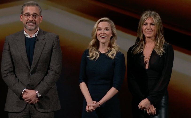 Reese Witherspoon, Jennifer Anniston and Steve Carell will be on the new Apple Morning Show