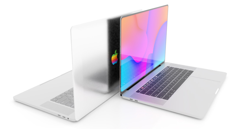 Sforum - Latest technology page MacBook-rainbow-Apple-logo-concept Apple will revive the logo