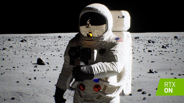 Watch the moon landing video re-measured by Ray Tracing on the Nvidia RTX card: thousands of times better than the original - Photo 1.