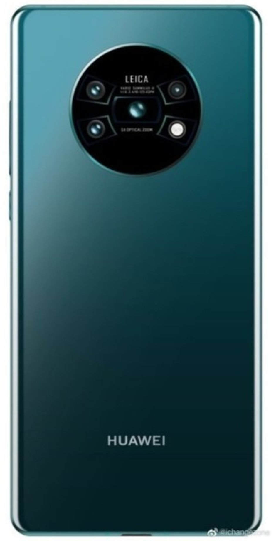 Render allegedly showing the rear panel of the Huawei Mate 30 Pro