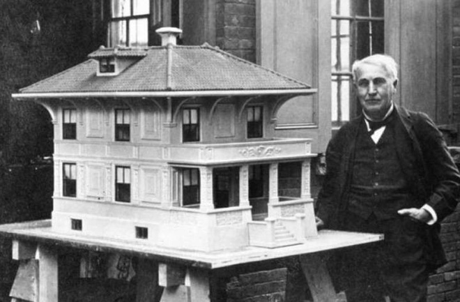 Few knew Thomas Edison was the inventor of the once-prefabricated concrete construction process - Photo 1.