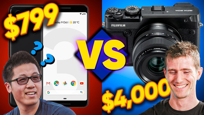 Amateur photographer holding Fuji GFX 50R costs 100 million against Pro with Google Pixel 3, who wins? - Photo 1.