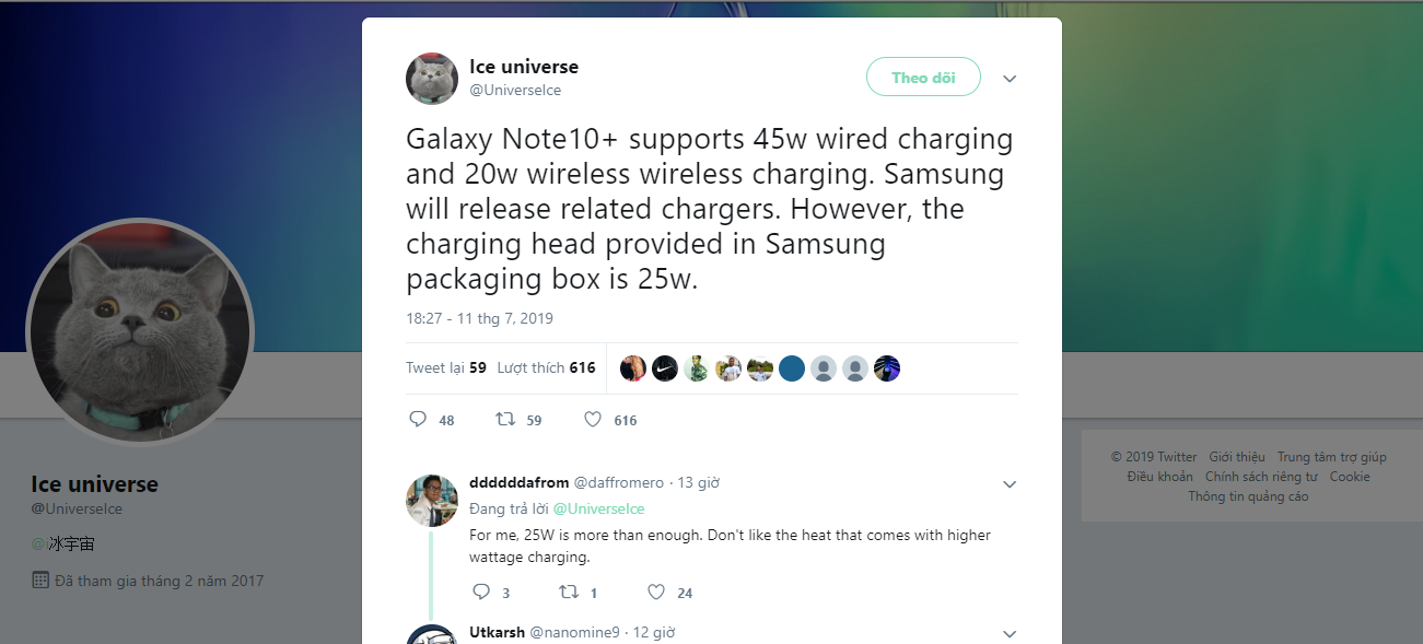 Sforum - Latest technology information Galaxy-Note-10-sac-fast-1 Galaxy Note 10+ will support 45W fast charging and 20W wireless charging but only with 25W charger