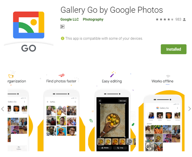 Google launched Go Gallery, a photo management application for cheap smartphones - Photo 1.