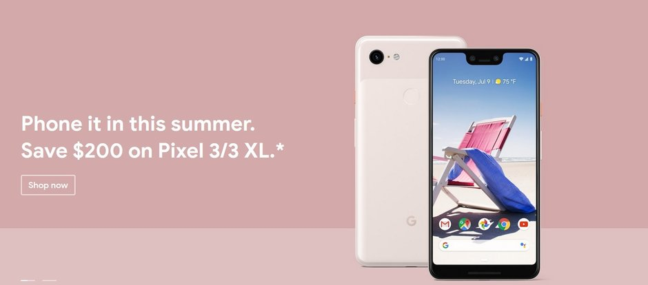 Save $200 on the Pixel 3 and Pixel 3 XL at the Google Store