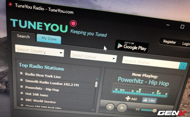 How to use TuneYou to listen to thousands of online radio stations around the world - Photo 1.