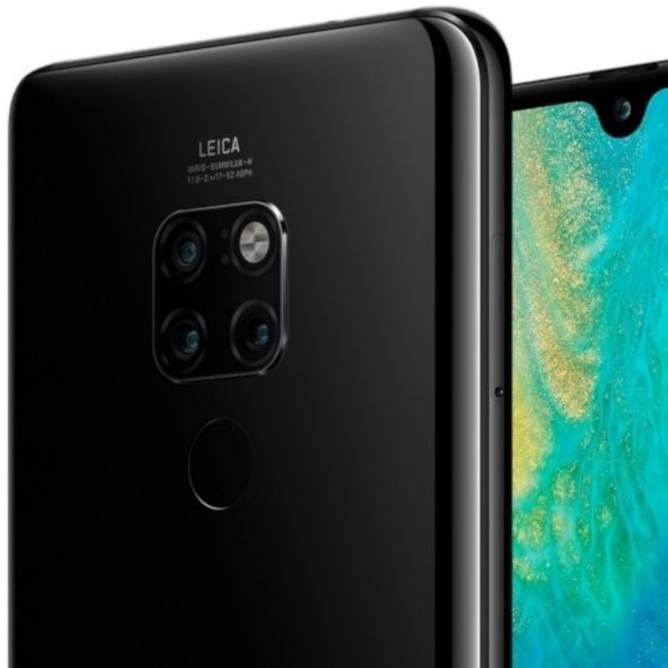 The square camera module on the Huawei Mate 20 Pro
