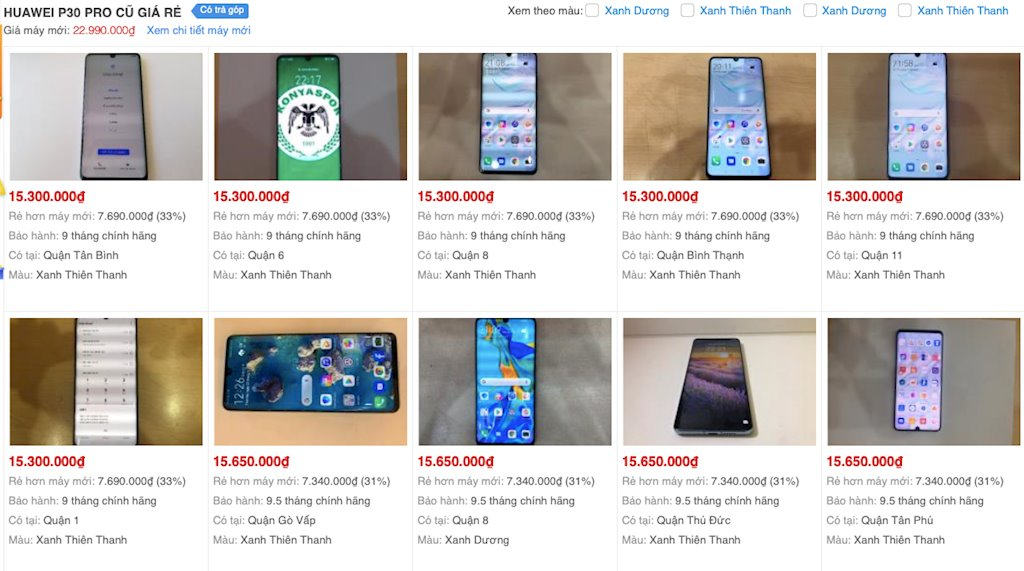 Huawei P30 Pro old goods discount 2-3 million