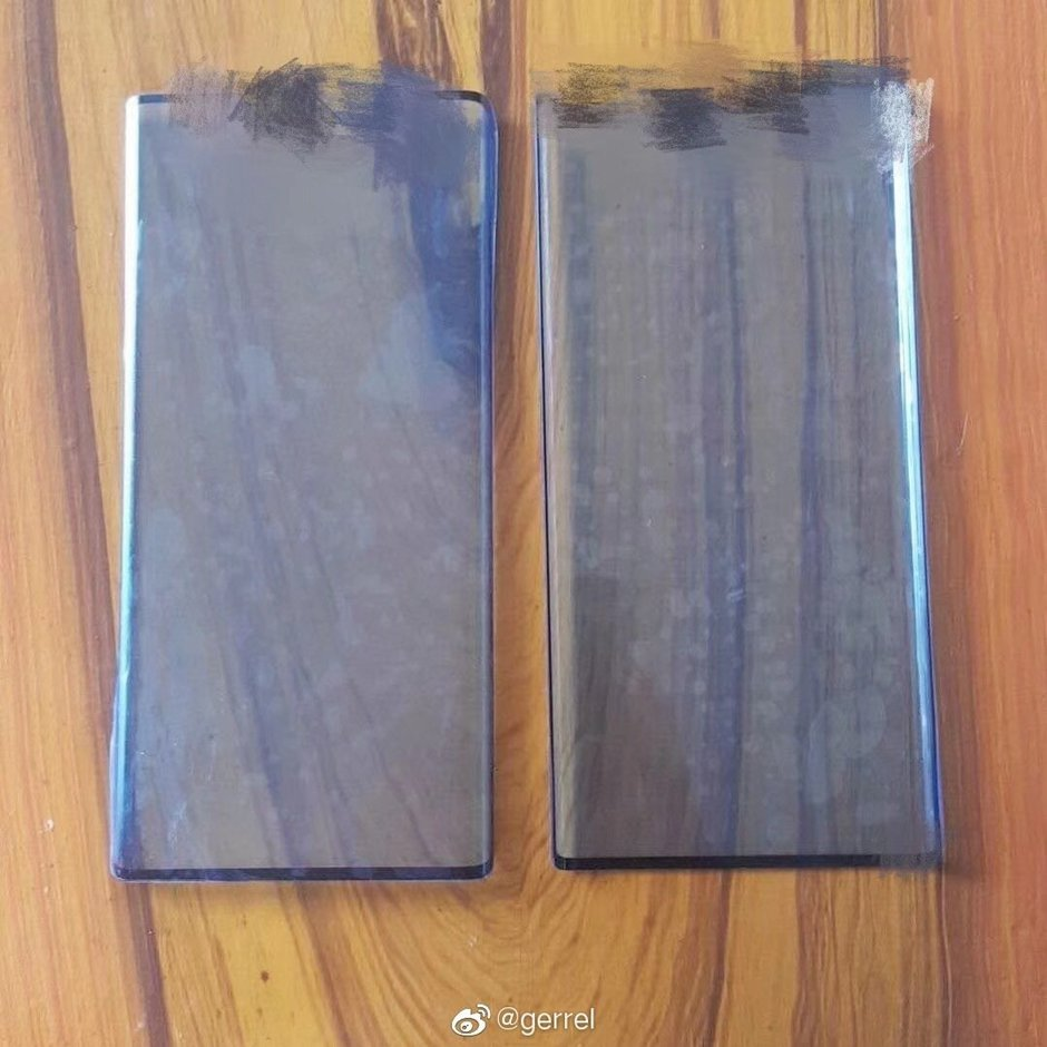 Photo allegedly shows protective film cover for the Huawei Mate 30 and Mate 30 Pro