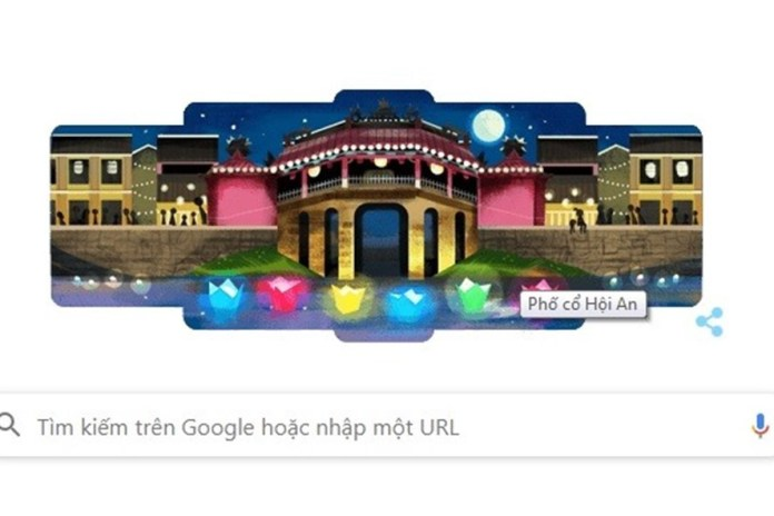 Proudly pictures of Hoi An Ancient Town appear on the Google homepage