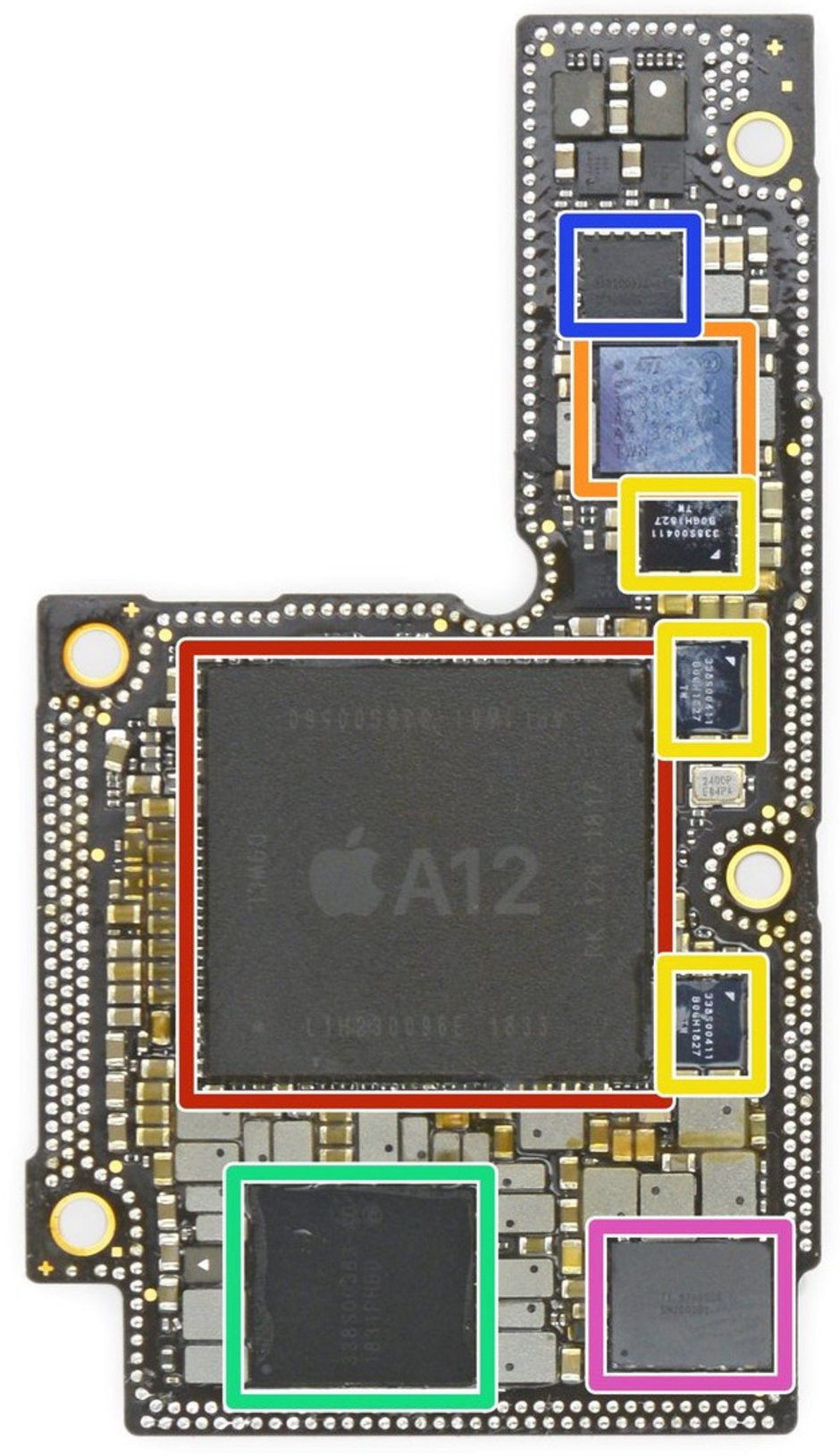iFixit reveals the L-shaped iPhones XS motherboard