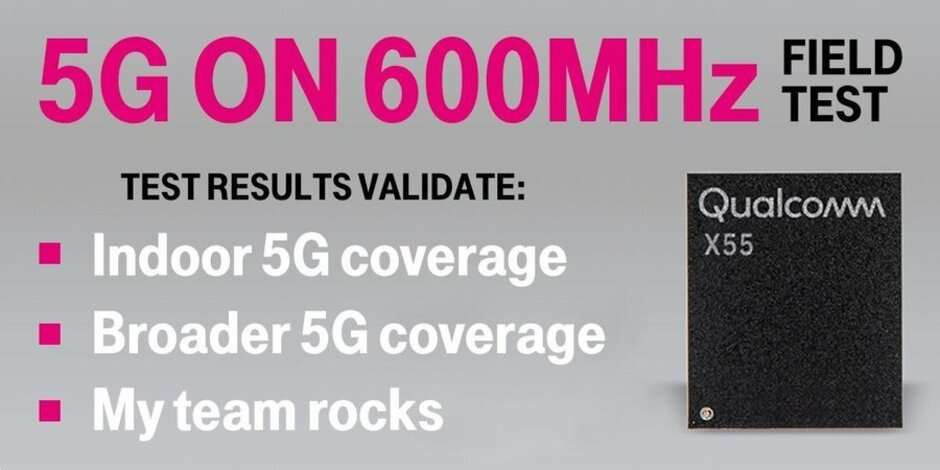 T-Mobile CFO Neville Ray congratulates his team following a successful 5G data call - T-Mobile successfully tests low-band 5G in the wild