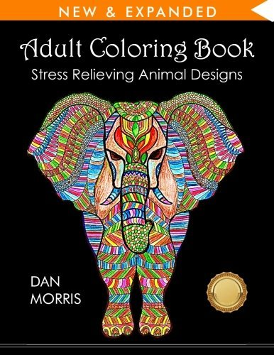 adult coloring book with an elephant on the front