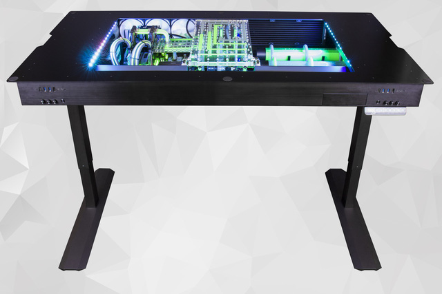 The gaming PC with the table with this breathtakingly beautiful water radiator costs 350 million VND - across 1 car - Photo 1.