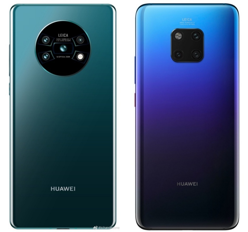 Purported Huawei Mate 30 (left), Mate 20 Pro (right)